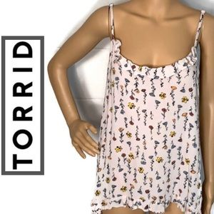 🎈4 for $25🎈Torrid Floral Top - Spaghetti Strap.
